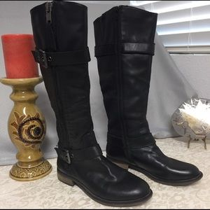 Steve Madden Leather Riding Style Boots